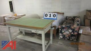 Drafting Table, Couches and Bed