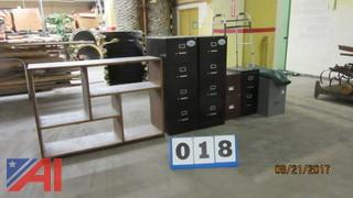 Filing Cabinets, Bookcase And Miscellaneous