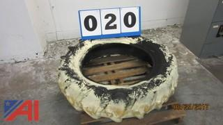 """Used Painted Firestone Tractor Tire 13.6"""" x 28"""""""