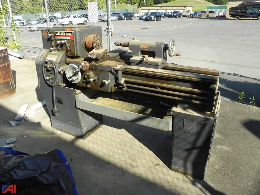 auctions international - auction: **items added** central valley csd #12148  item: leblond regal metal lathe