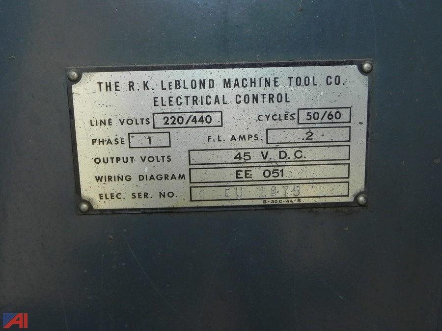 Auctions International Items Added Central Valley CSD 12148 – Leblond Wiring Diagram