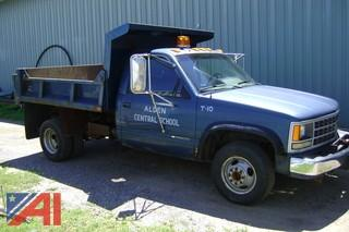 1990 Chevrolet 3500 Dump Truck with Plow