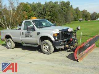 2009 Ford F350 SD XL Pickup w/ Plow