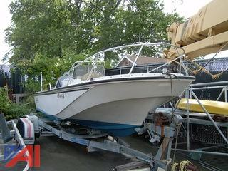 1985 Boston Whaler Outrage 20' Boat with Trailer