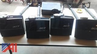 (4) Acer Projectors & (1) Infocus Projector