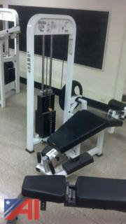 "Paramount ""Horizontal Leg Curl"" Weight Machine"