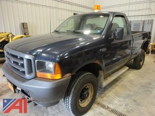 2001 Ford F350 SD XL Pickup with Plow