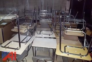 Student Desks with Chair Seats