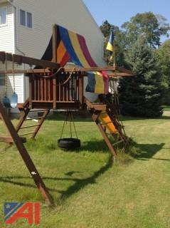 Rainbow Swing Set