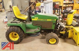 John Deere 445 Tractor with Attachments