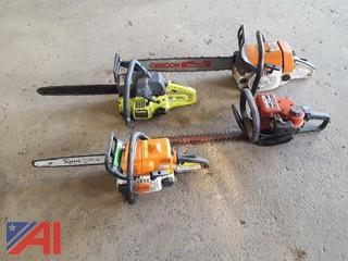 Assorted Chain Saws and Hedge Trimmer