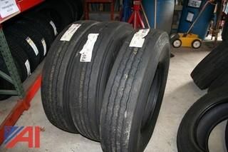 (3) New Firestone Tires FS 560 10R22.5