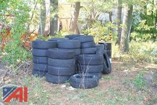 (100) Piece Lot Of Used And Damaged Tires