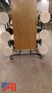 Rectangular Folding Cafeteria Tables