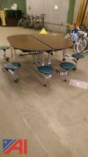 Round Folding Cafeteria Table