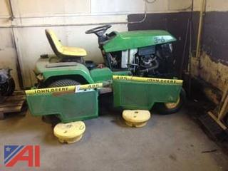 1996 John Deere 425 Tractor with Snow Blower Attachments