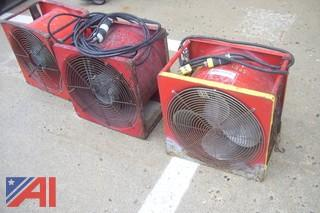 (3) Super Vac Ventilating Fans