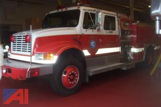 1992 International with E One Pumper 4900 Crew Cab Fire Pumper