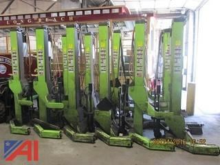 (12) ARI Hetra Heavy Duty Mobile Lifts