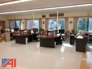 Three Desk Work Station
