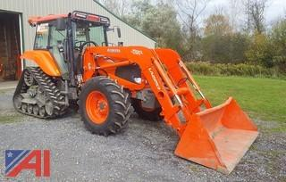 2011 Kubota M126X Power Krawler Snowmobile Trail Groomer/Tractor