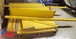 Yellow Gondola Shelving Unit
