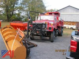 1996 International 2574 Dump Truck with Plow