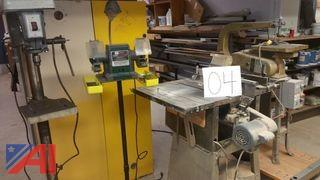 Drill Press, Table Saw, Scroll Saw, Bench Grinder