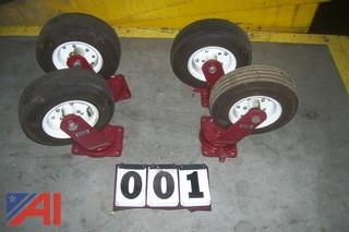 (4) Hamilton Caster Wheels