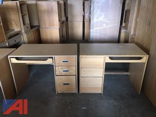 25 Oak Student Desks