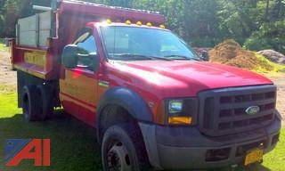 2007 Ford F550 Pickup with Dump and Plow