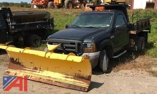 2005 Ford F350 Flat Bed Dump with Plow