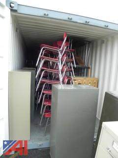 Contents of Container With Chairs, Student Desks, Tables and More