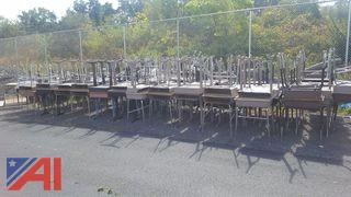 Large Lot of Assorted Student Desks and Chairs