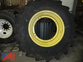 (1) Tire for John Deere Tractor, 460/8R30