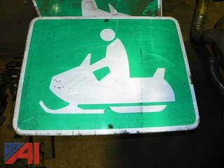 (8) Snow Mobile Signs