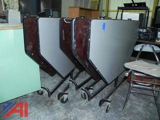 (3) Folding Cafeteria Tables