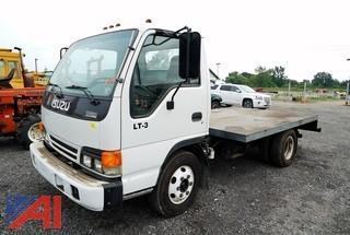 2002 Isuzu LT-3 Cabover Flatbed Truck