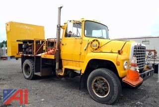 1985 Ford 8000 Flatbed Sign Truck