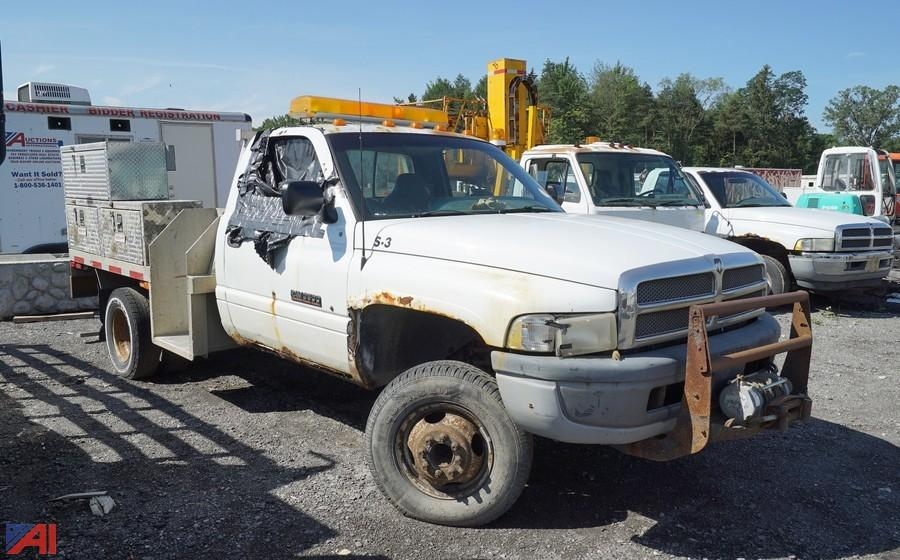 auctions international auction secured creditor south buffalo electric ii 12495 item 1996 dodge 3500 flatbed service truck dodge 3500 flatbed service truck