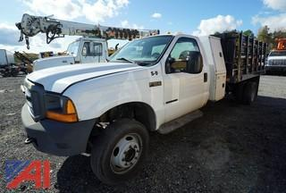 2000 Ford F550 XL Stake Truck