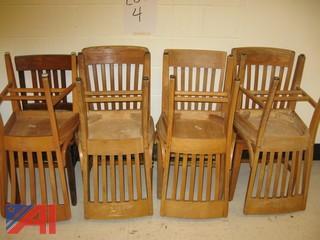 (8) Wooden Teacher Chairs