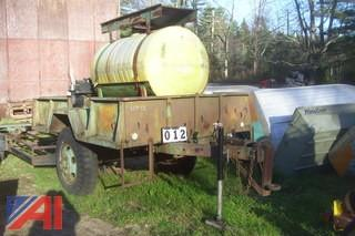 Utility Trailer with Tank and Pump