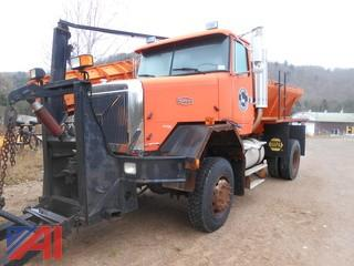 2000 Volvo Autocar ACL42B Dump with Plow and Sander