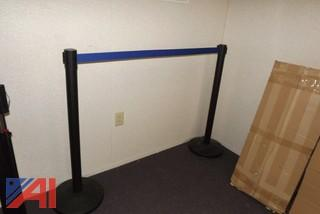 (3) Cases of Assorted Line Stanchion Poles and Tape