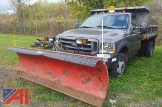 2002 Ford F450XL Super Duty Dump with Plow