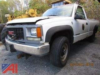 1998 GMC Sierra 2500 Pickup with Plow