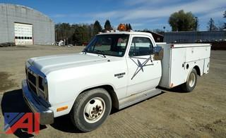 1991 Dodge Ram D350 Utility Truck