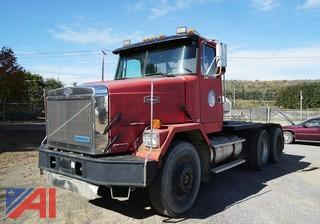 1989 White/GMC 6x4 Autocar Tractor with Winch