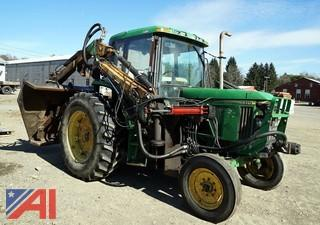 2001 John Deere 6410 Tractor with Alamo Rotary Ditch Bank Mower